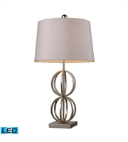 Picture for category Table Lamps 1 Light With Silver Leaf Finish Steel Material Medium Base Bulb Type 29 inch 13.5 Watts