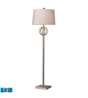 Picture for category Floor Lamps 1 Light With Silver Leaf Finish Steel Material Medium Base Bulb Type 62 inch 13.5 Watts