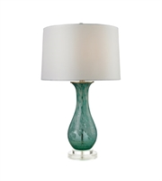 Picture for category Table Lamps 1 Light With Aqua Swirl Glass and Acrylic Medium Base 27 inch 150 Watts