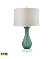 Picture for category Table Lamps 1 Light With Aqua Swirl Glass and Acrylic Medium Base 27 inch 9.5 Watts
