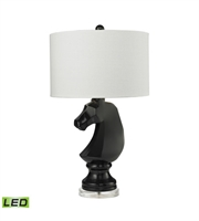 Picture for category Table Lamps 1 Light With Gloss Black Resin and Crystal Medium Base 28 inch 9.5 Watts