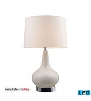 Picture for category Table Lamps 1 Light With White & Chrome Finish Ceramic Material Medium Base Bulb Type 27 inch 13.5 Watts