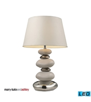 Picture for category Table Lamps 1 Light With Pure White and Chrome Ceramic Medium Base 23 inch 13.5 Watts
