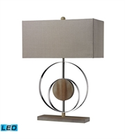 Picture for category Table Lamps 1 Light With Bleached Wood Chrome Steel Wood Medium Base 23 inch 13.5 Watts