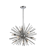 Picture for category World of Lights WLGT143596 Pendants Polished Chrome Metal Starburst