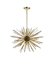 Picture for category World of Lights WLGT143597 Pendants Polished Gold & Oil Rubbed Bronze Metal Starburst
