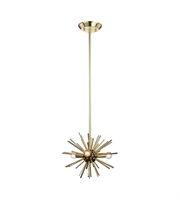 Picture for category World of Lights WLGT143599 Pendants Polished Gold & Oil Rubbed Bronze Metal Starburst