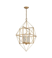 Picture for category World of Lights WLGT143603 Pendants Antique Gold Leaf & Siler Leaf Metal Connexions
