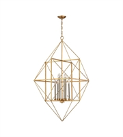 Picture for category World of Lights WLGT143604 Pendants Antique Gold Leaf & Siler Leaf Metal Connexions