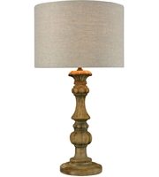 Picture for category World of Lights WLGT143678 Table Lamps Natural Stain Wood Metal Haute-Vienne