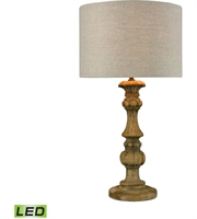Picture for category World of Lights WLGT143679 Table Lamps Natural Stain Wood Metal Haute-Vienne