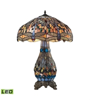 Picture for category Table Lamps 2 Light With Dark Bronze Finish Metal Glass Material Medium Base Bulb Type 26 inch 19 Watts