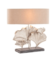 Picture for category World of Lights WLGT144620 Table Lamps Textured Nickel Metal Burlap Maidenhair
