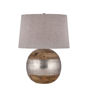 Picture for category Table Lamps 1 Light With Mango Wood and German Silver E26 Bulb 27 inch 150 Watts