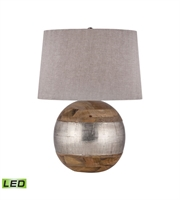 Picture for category Table Lamps 1 Light With Mango Wood and German Silver LED Bulb 27 inch 9.5 Watts