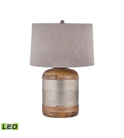 Picture for category Table Lamps 1 Light With Mango Wood and German Silver LED Bulb 29 inch 9.5 Watts