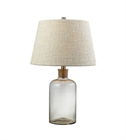 Picture for category Table Lamps 1 Light With Clear Finish Glass Material E26 Bulb Type 26 inch 100 Watts