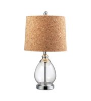 Picture for category Table Lamps 1 Light With Clear Finish Glass and Metal Material Medium Base Bulb Type 22 inch 9.5 Watts