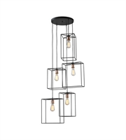 Picture for category Pendants 5 Light With Oil Rubbed Black Finish Metal Material E26 Bulb Type 63 inch 500 Watts
