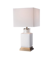 Picture for category Table Lamps 1 Light With Gloss White and Gold Metal and Ceramic and Acrylic E26 21 inch 100 Watts