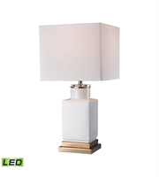 Picture for category Table Lamps 1 Light With Gloss White and Gold Metal and Ceramic and Acrylic LED 21 inch 9.5 Watts