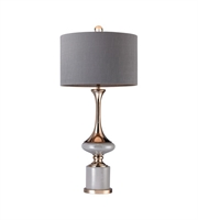 Picture for category Table Lamps 1 Light With Grey and Gold Finish Metal and Ceramic Material E26 Bulb Type 35 inch 100 Watts
