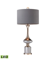 Picture for category Table Lamps 1 Light With Grey and Gold Finish Metal and Ceramic Material LED Bulb Type 35 inch 9.5 Watts