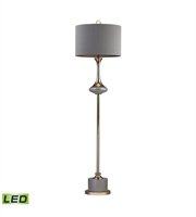 Picture for category Floor Lamps 1 Light With Grey and Gold Finish Metal and Ceramic Material LED Bulb Type 64 inch 9.5 Watts