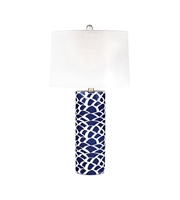 Picture for category Table Lamps 1 Light With Navy Blue and White Finish Ceramic Material E26 Bulb Type 28 inch 100 Watts