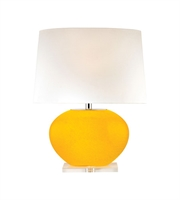 Picture for category Table Lamps 1 Light With Yellow Finish Glass and Crystal Material E26 Bulb Type 25 inch 150 Watts