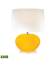 Picture for category Table Lamps 1 Light With Yellow Finish Glass and Crystal Material LED Bulb Type 25 inch 9.5 Watts