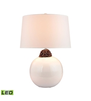 Picture for category Table Lamps 1 Light With White and Brown Finish Ceramic Material LED Bulb Type 27 inch 9.5 Watts