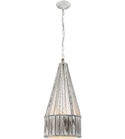 Picture for category World of Lights WLGT145802 Pendants Washed Wood Wood Metal Pennant Point