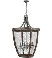 Picture for category Pendants 4 Light With Weathered Zinc Metal Wood Candelabra Base 36 inch 240 Watts