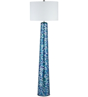 Picture for category Floor Lamps 1 Light With Turquoise Mosaic Mosaic Glass Linen E26 62 inch 100 Watts