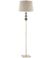 Picture for category Floor Lamps 1 Light With Smoked Amber and Gold Metal Acrylic Faux Silk E26 69 inch 150 Watts