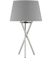 Picture for category World of Lights WLGT160727 Table Lamps Polished Nickel Metal Faux Silk Excelsius