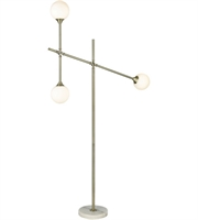 "Picture for category Aged Brass and Frosted White Tone Floor Lamps 41"" Wide Metal Glass 3 Light Fixture"