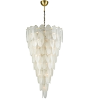 Picture for category Chandeliers 42 Light With White Finish Metal Glass Material E12 Bulb Type 59 inch 1680 Watts