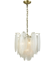 Picture for category Chandeliers 4 Light With White Finish Metal Glass Material E12 Bulb Type 18 inch 160 Watts