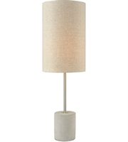 Picture for category Table Lamps 1 Light With Polished Concrete and Nickel Concrete Metal Linen E26 24 inch 60 Watts