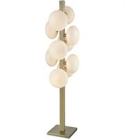 Picture for category Floor Lamps 10 Light With Aged Brass and Frosted White Metal Glass E12 60 inch 250 Watts