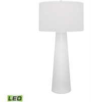 Picture for category Table Lamps 1 Light With White Finish Glass Material Medium Base Bulb Type 36 inch 9.5 Watts