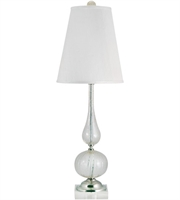 Picture for category Table Lamps 1 Light With Clear and Gold Finish Glass Material E26 Bulb Type 33 inch 100 Watts