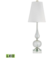 Picture for category Table Lamps 1 Light With Clear and Gold Finish Glass Material Medium Base Bulb Type 33 inch 9.5 Watts