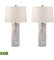 Picture for category Table Lamps 2 Light With Mother of Pearl Mother of Pearl Medium Base 28 inch 19 Watts