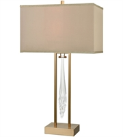 Picture for category Table Lamps 1 Light With Cafe Bronze and Clear Finish Metal Glass Material E26 Bulb Type 31 inch 0 Watts