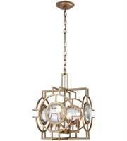 Picture for category Pendants 4 Light With Matt Gold Finish Metal Crystal Material E12 Bulb Type 17 inch 0 Watts