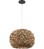 Picture for category Pendants 1 Light With Natural Finish Reed Material E26 Bulb Type 11 inch 0 Watts