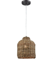 Picture for category Pendants 1 Light With Natural Finish Rattan Material E26 Bulb Type 11 inch 0 Watts